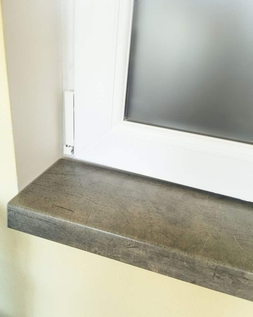 Подоконник Topalit цвет бетон, фото Ирпень 2018